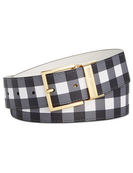 Reversible Gingham Belt, Created For Macy's by Michael Michael Kors