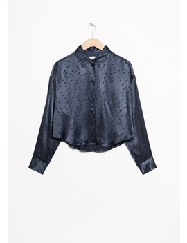 Boyfriend Fit Jacquard Shirt by & Other Stories