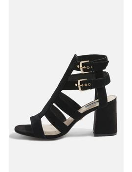 Nia Buckle Mid Sandals by Topshop