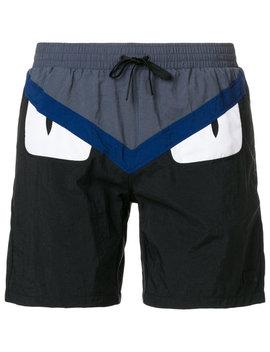 Bag Bugs Logo Swim Shorts by Fendi