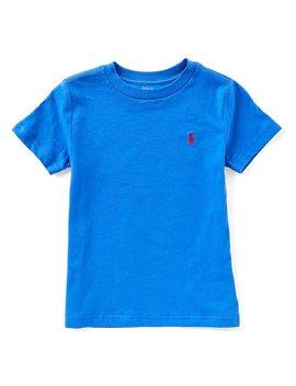 Ralph Lauren Childrenswear Little Boys 2 T 7 Short Sleeve Solid Crew Neck Tee by Ralph Lauren