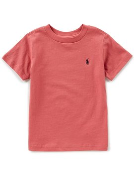 Childrenswear Little Boys 2 T 7 Solid Crew Neck Short Sleeve Tee by Ralph Lauren
