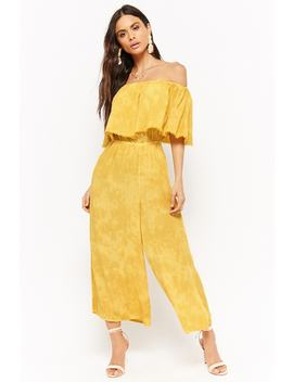 Flounce Culotte Jumpsuit by Forever 21