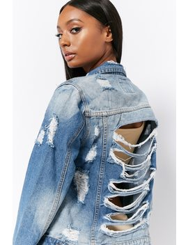 12x12 Distressed Denim Jacket by Forever 21