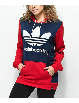 Adidas Skate Red, White & Blue Hoodie by Adidas