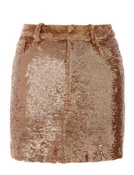 Bronze Sequin Mini Skirt by Iro