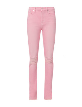 Pink Distressed Skinny Jeans by Cotton Citizen