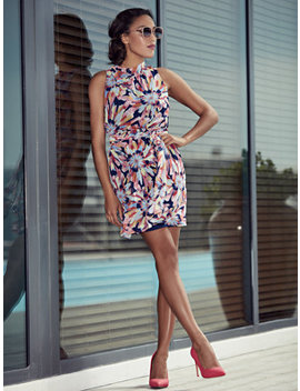Sweet Pea   Navy Floral Shift Dress by New York & Company