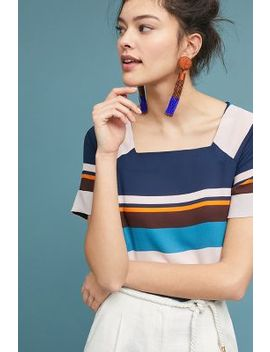 Graphic Striped Top by Maeve