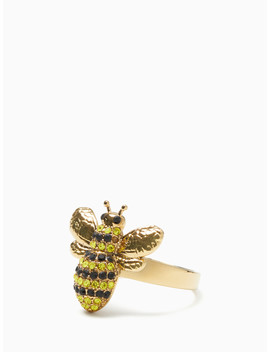 Picnic Perfect Pave Bee Ring by Kate Spade
