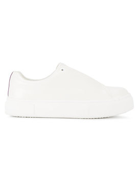 White Doja Leather Sneakers by Eytys