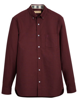 Check Detail Oxford Shirt by Burberry