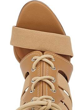 Buckle Strap Canvas & Leather Sandals by Chloé
