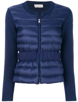 Padded Front Knitted Cardigan by Moncler Moncler Moncler Jil Sander Balenciaga Moncler Moncler Jil Sander Balenciaga