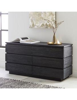 Emmerson® Modern Reclaimed Wood 6 Drawer Dresser   Ink Black by West Elm