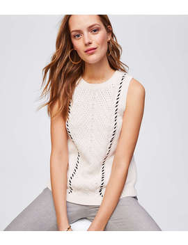 Sleeveless Cable Knit Sweater by Loft