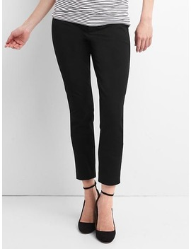 Maternity Bi Stretch Inset Panel Skinny Ankle Pants by Gap