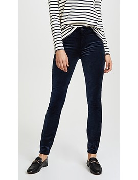 Hoxton Velveteen Skinny Pants by Paige