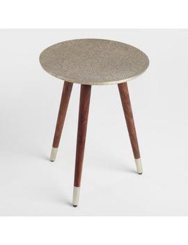 Embossed Azaria Round Accent Table by World Market