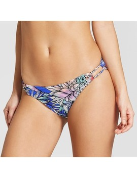Women's Loop Side Hipster Bikini Bottom   Xhilaration™ Blue Tropical by Shop This Collection