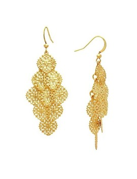Filigree Cascading Drop Earring   Gold by Target