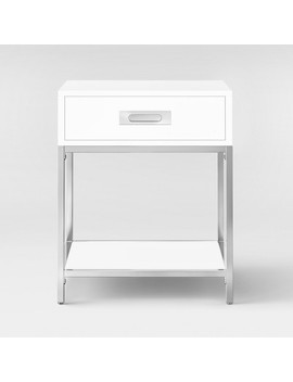 Ronchamp Side Table Chrome/White   Project 62™ by Project 62™