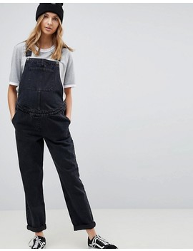 Asos Design Maternity Denim Overall In Washed Black by Asos Design
