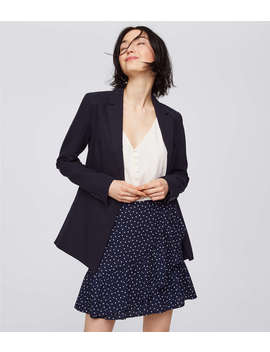 Dotted Ruffle Wrap Skirt by Loft