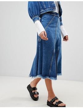 Sportmax Code Crop Denim Jacket & Midi Skirt Co Ord by Asos Brand
