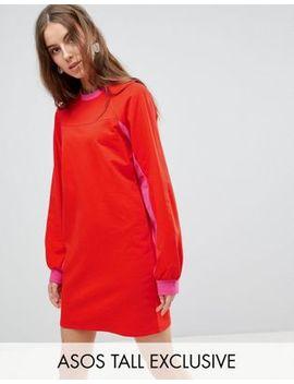 Asos Tall Mini Color Block Sweat Dress by Asos Tall