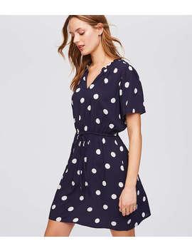Polka Dot Tie Waist Dress by Loft