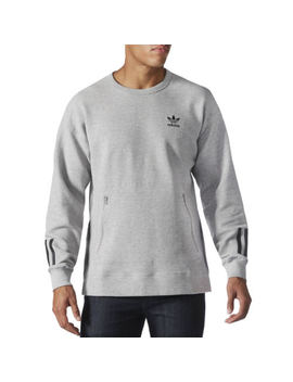 Adidas Originals Mens Instinct Crew Neck Slim Cut Jumper Sweatshirt   Grey by Adidas