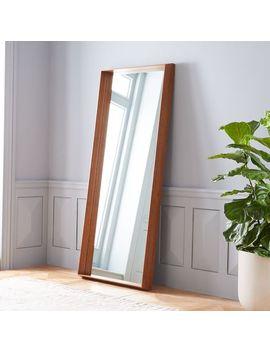Wood Frame Ledge Floor Mirror by West Elm