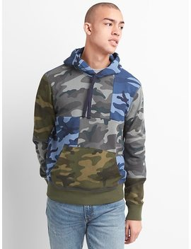 Camo Patchwork Pullover Hoodie by Gap