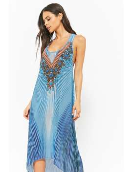 Embellished Swim Cover Up Dress by Forever 21