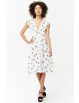 Floral Plunging Dress by Forever 21