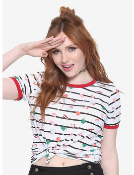 Her Universe Studio Ghibli Ponyo Nautical Ringer T Shirt by Hot Topic