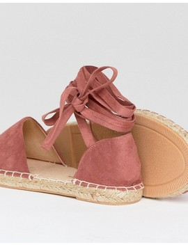 New Look Wide Fit Ankle Tie Espadrille by New Look