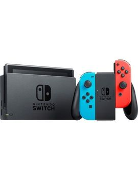 Nintendo Switch With Neon Blue And Neon Red Joy Con by Nintendo