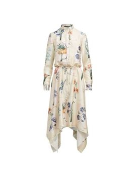 Floral Handkerchief Hem Dress by Ralph Lauren
