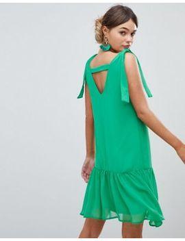 Silver Bloom Tie Shoulder Swing Dress With Embellished Back Bar by Silver Bloom