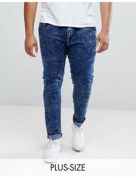 Liquor N Poker Plus Blue Acid Wash Skinny Jeans by Liquor N Poker