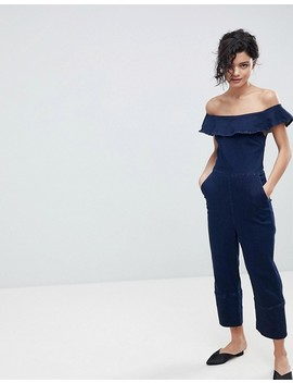 2 Ndday Off Shoulder Jumpsuit In Stretch Denim by 2nd Day