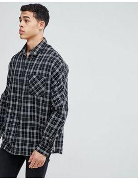 Boohoo Man Drop Shoulder Shirt In Black Check by Boohoo Man