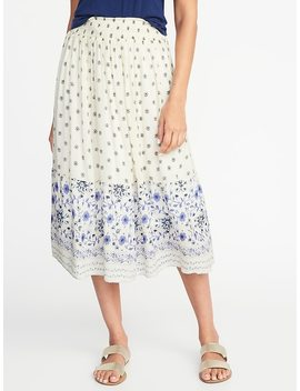 Smocked Pull On Midi Skirt For Women by Old Navy
