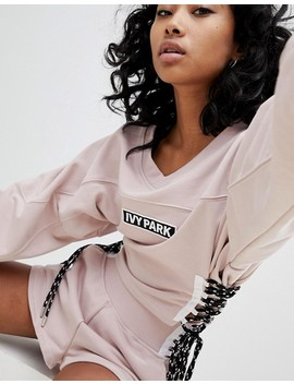 Ivy Park Sweatshirt With Lace Up Sides by Ivy Park