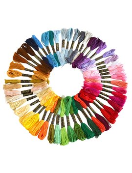 Soledi Embroidery Floss 50 Skeins Embroidery Thread Rainbow Color Cross Stitch Floss by Soledi