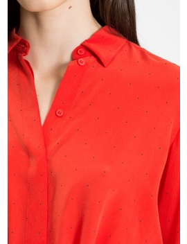Floral Collared Silk Shirt by & Other Stories