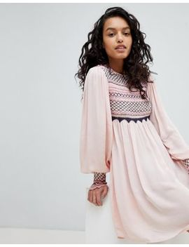 Free People Late Night Picnic Smock Dress by Free People