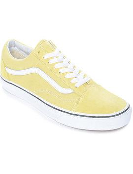 Vans Old Skool Dusty City Yellow &Amp; White Skate Shoes by Vans